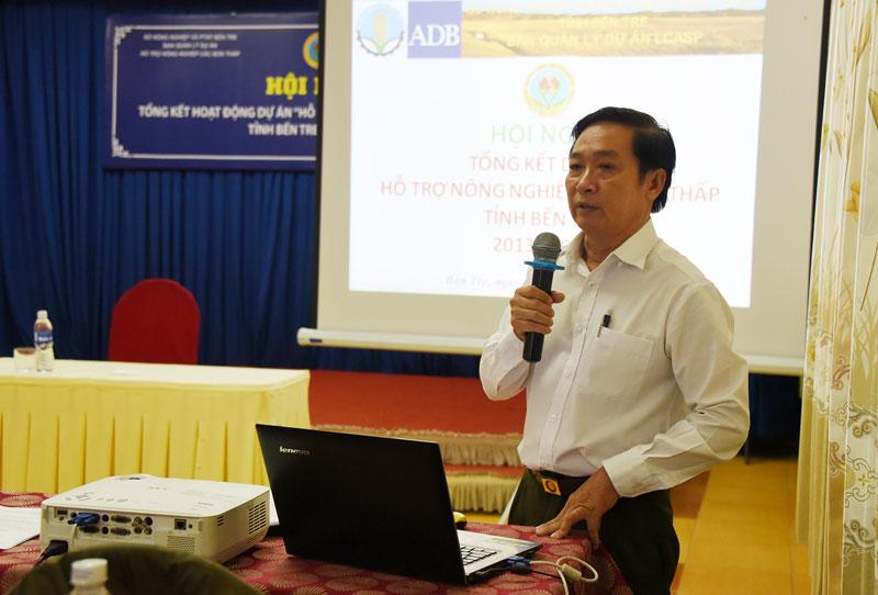 Giám đốc dự án LCASP Nguyễn Thế Nghĩa báo cáo kết quả dự án.