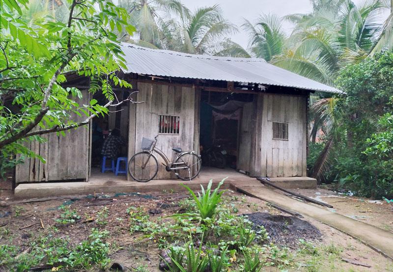 Căn nhà của anh Bùi Văn Phụ. Ảnh: PV