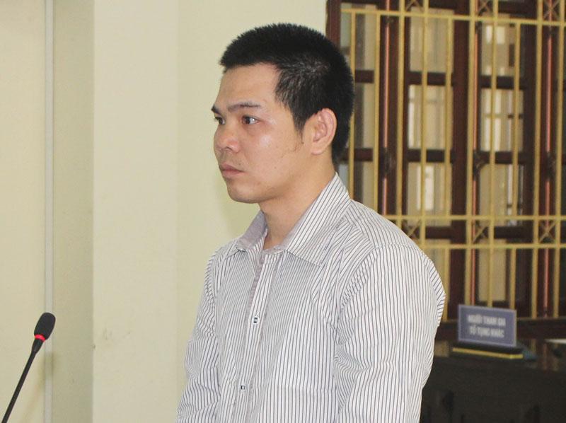 Bị cáo Lê Văn Trực tại phiên tòa hình sự sơ thẩm.