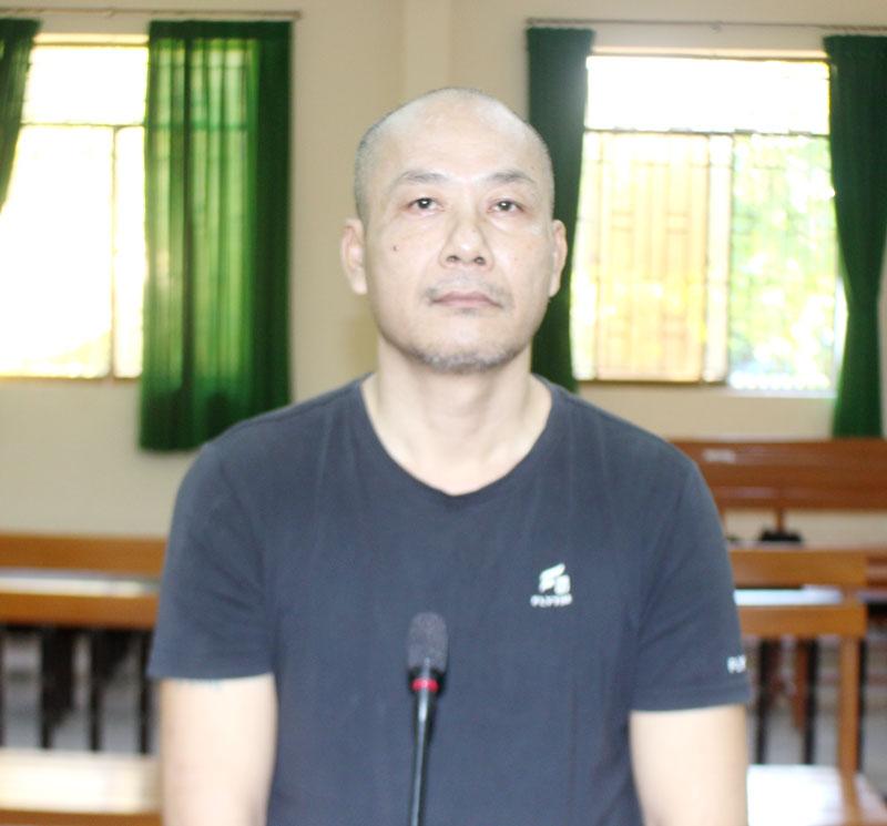 Bị cáo Lâm Hiếu tại phiên tòa hình sự sơ thẩm.