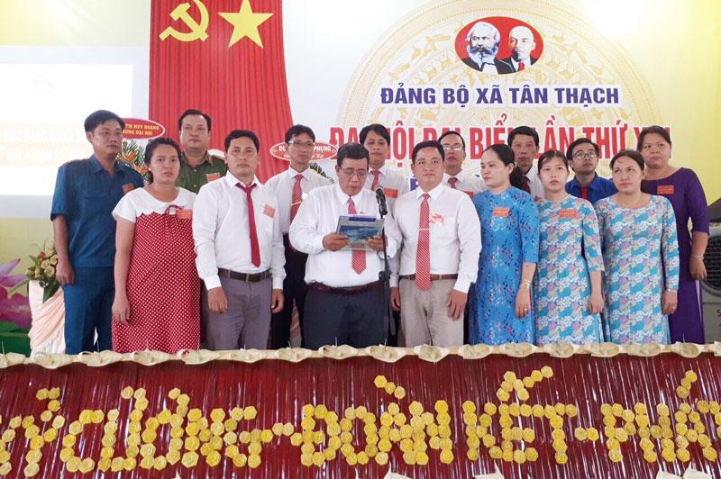 Đại hội đại biểu Đảng bộ xã Tân Thạch, huyện Châu Thành, nhiệm kỳ 2020 - 2025. Ảnh: CTV