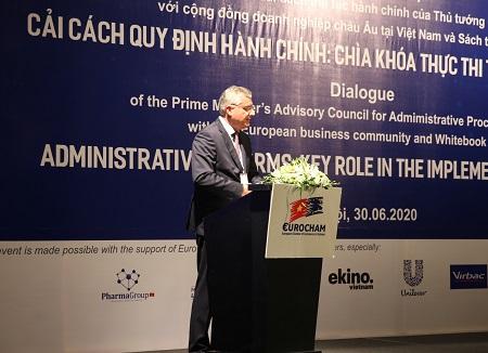 Ông Nicolas Audier, Chủ tịch Hiệp hội Doanh nghiệp châu Âu tại Việt Nam (EuroCham). Ảnh: VGP/Hoàng Anh