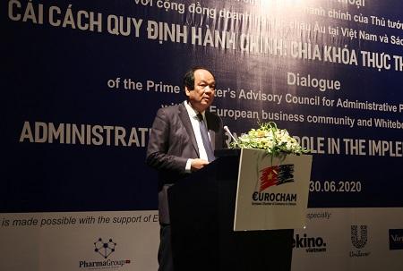 Bộ trưởng, Chủ nhiệm Văn phòng Chính phủ Mai Tiến Dũng phát biểu tại hội nghị. Ảnh: VGP/Hoàng Anh