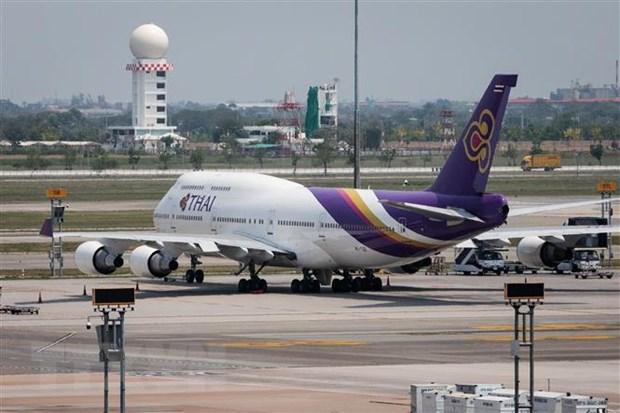 Máy bay của Thai Airways đỗ tại sân bay Suvarnabhumi ở Bangkok, Thái Lan, ngày 25-3-2020. Ảnh: AFP/TTXVN