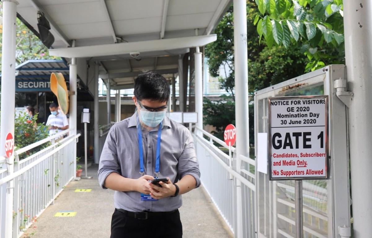 Một địa điểm tổ chức bầu cử tại Singapore. (Ảnh: Lê Dương/TTXVN)