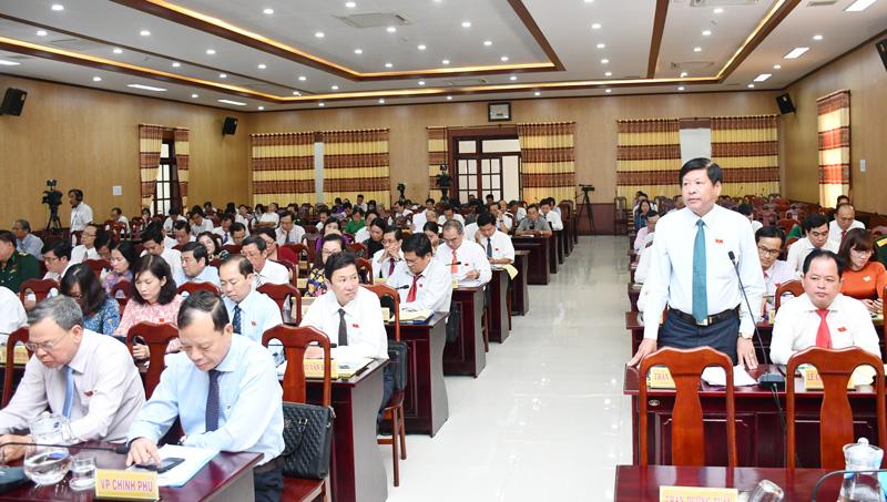 Chủ tịch UBND huyện Chợ Lách Trần Văn Đém. Ảnh: Hữu Hiệp
