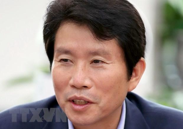 Nghị sỹ Lee In-young, người được bổ nhiệm làm Bộ trưởng Thống nhất Hàn Quốc, tại văn phòng ở Seoul, ngày 3-7-2020. (Nguồn: Yonhap/TTXVN)