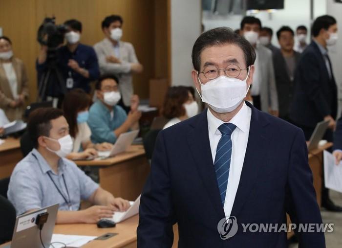 Thị trưởng Seoul Park Won-soon. Ảnh Yonhap
