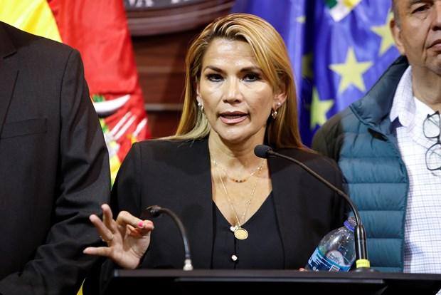 Tổng thống lâm thời Bolivia Jeanine Anez. (Ảnh: Reuters)