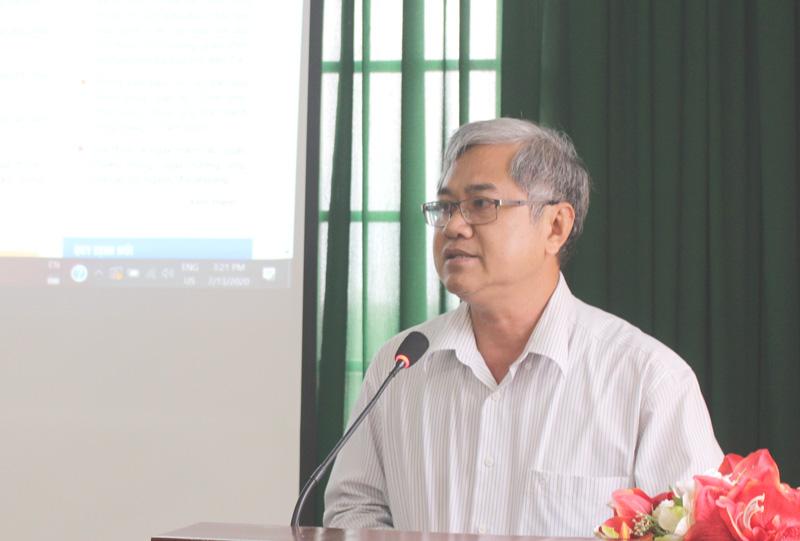 Phó chủ tịch UBND tỉnh Nguyễn Văn Đức phát biểu chỉ đạo tại hội nghị.