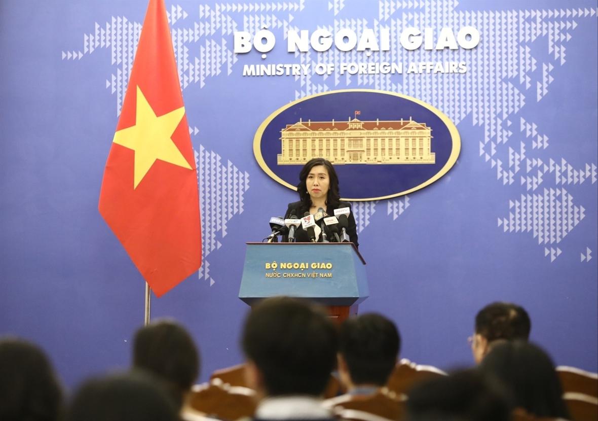Người phát ngôn Bộ Ngoại giao Lê Thị Thu Hằng. Ảnh: Văn Điệp/TTXVN
