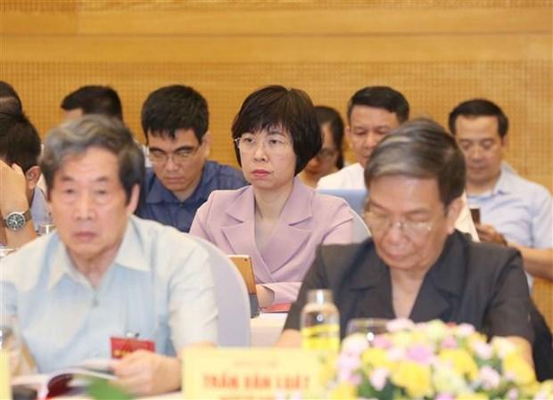 Phó tổng giám đốc Thông tấn xã Việt Nam Vũ Việt Trang dự hội thảo. Ảnh: Phương Hoa/TTXVN