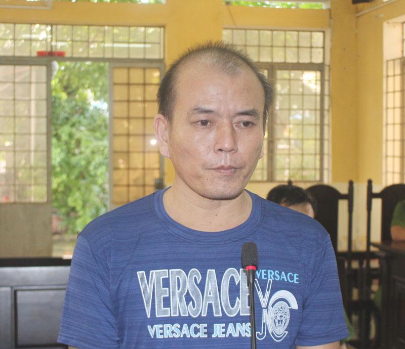 Bị cáo Lê Quốc Bảo tại phiên tòa.
