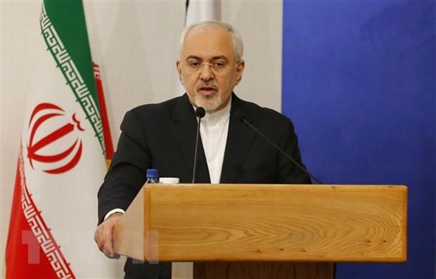 Ngoại trưởng Mohammad Javad Zarif phát biểu tại Tehran, Iran. (Nguồn: AFP/TTXVN)