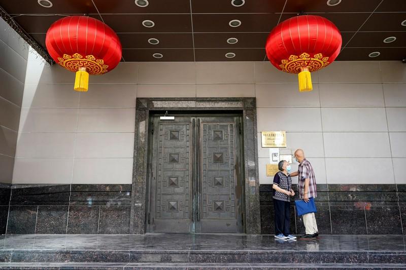 Lãnh sự quán Trung Quốc tại Houston hôm 22-7-2020. Ảnh: AP