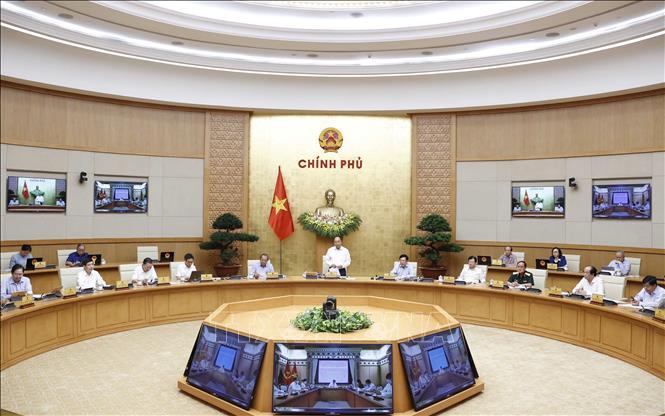 Quang cảnh phiên họp Chính phủ thường kỳ tháng 7-2020. Ảnh: TTXVN