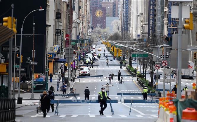 Quang cảnh Đại lộ Park ở New York, Mỹ ngày 27-3-2020. Ảnh: TTXVN phát