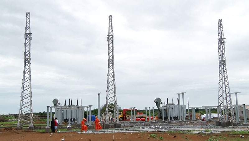 Dự án Nhà máy điện gió số 5 (Thạnh Hải - Thạnh Phú) đang thi công, dự kiến vận hành vào đầu năm 2021.