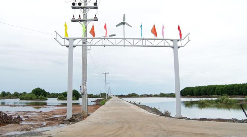 Phát triển hạ tầng giao thông trong vùng dự án điện gió tại Thạnh Phú.