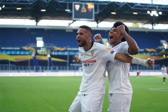 En-Nesyri ghi bàn ấn định tỷ số ở cuối hiệp 1