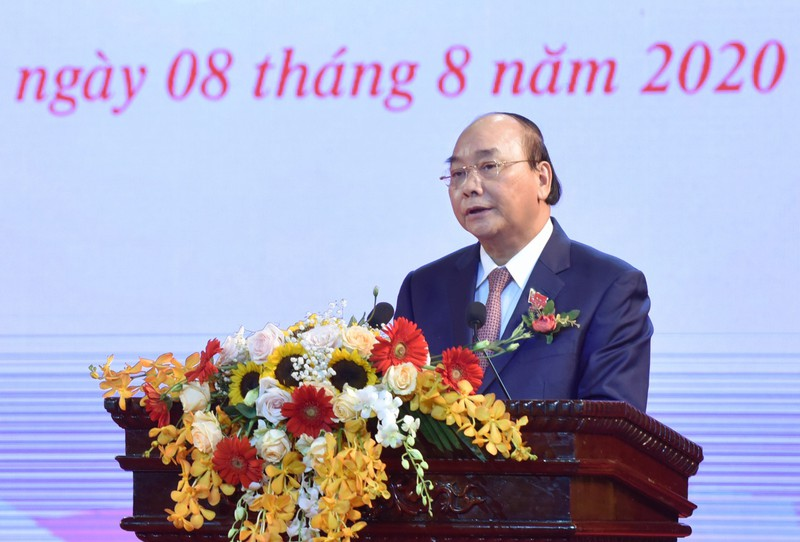 Thủ tướng Nguyễn Xuân Phúc phát biểu tại Đại hội. Ảnh: VGP/Quang Hiếu