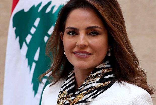 Bộ trưởng Thông tin Liban Manal Abdel Samad. Ảnh: Libnanews