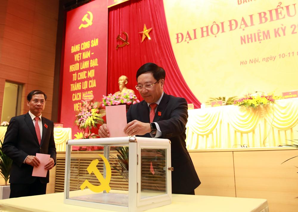 Bầu Ban Chấp hành Đảng bộ nhiệm kỳ 2020-2025. Ảnh: VGP/Hải Minh