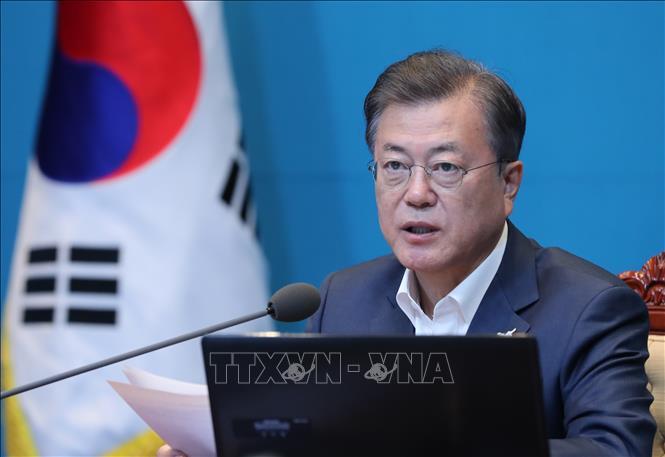 Tổng thống Hàn Quốc Moon Jae-in. Ảnh: Yonhap/TTXVN