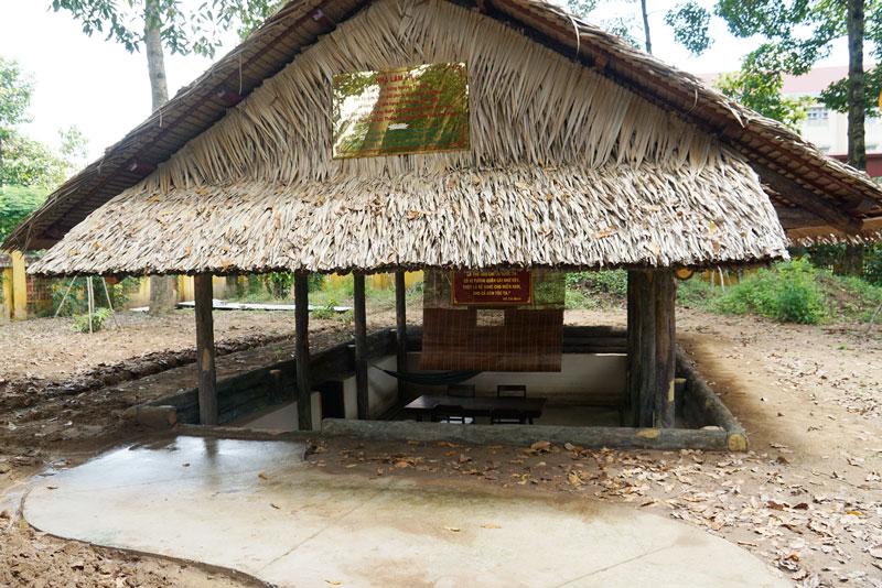 Phục dựng Nhà làm việc của Nữ tướng Nguyễn Thị Định. Ảnh: A. Nguyệt