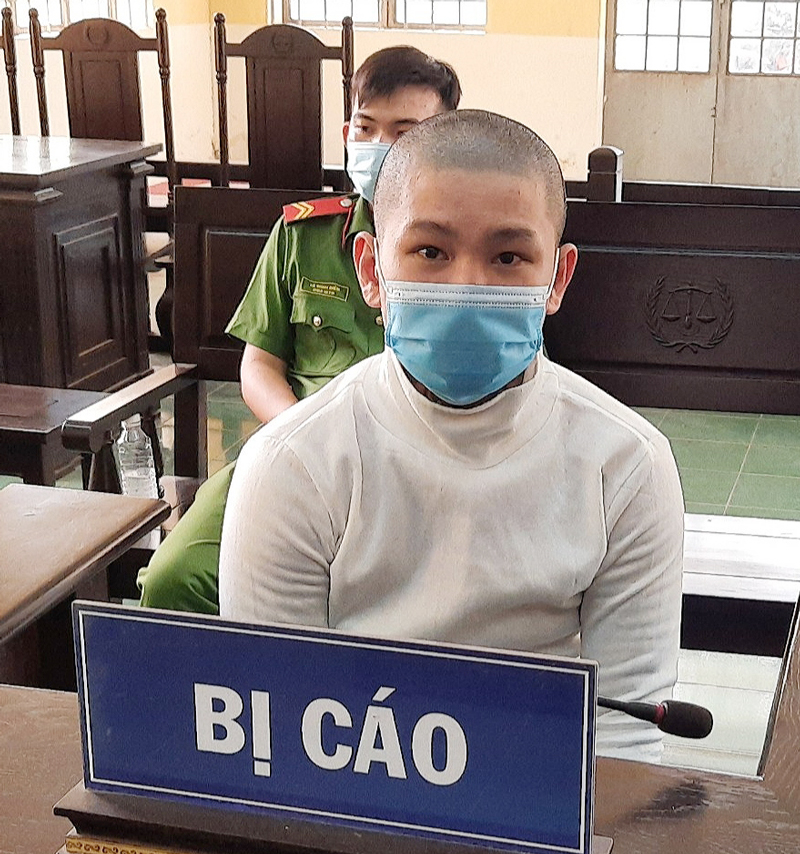 Bị cáo Đỗ Minh Tâm tại phiên tòa.