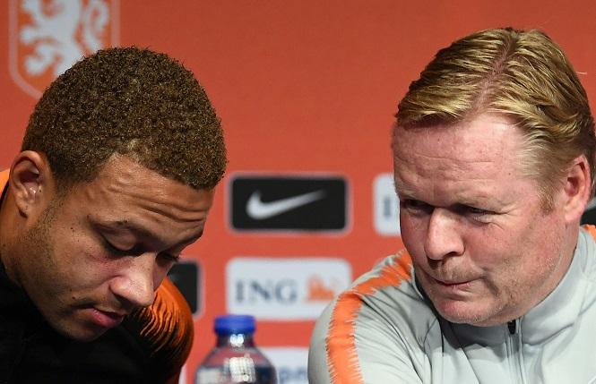 HLV Koeman và Depay ở đội tuyển Hà Lan