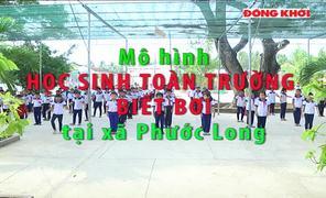 Mô hình học sinh toàn trường biết bơi tại xã Phước Long