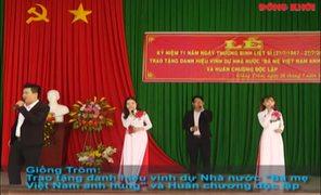 Trao tặng danh hiệu Nhà nước Bà Mẹ Việt Nam anh hùng và Huân chương Độc lập tại Giồng Trôm