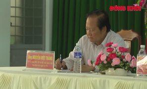 Đại biểu Quốc hội tỉnh tiếp xúc cử tri tại Giồng Trôm