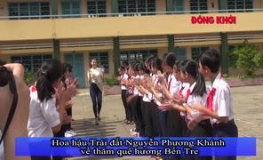 Hoa hậu trái đất 2018 Nguyễn Phương Khánh thăm quê Bến Tre