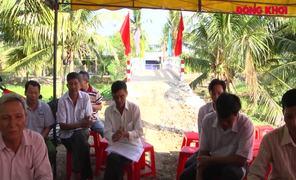 Lãnh đạo tỉnh dự lễ khánh thành cầu tại ấp Hồ Sen