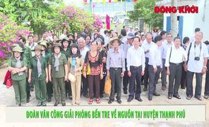 Đoàn Văn công giải phóng Bến Tre về nguồn tại xã Thạnh Hải