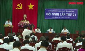 Bế mạc Hội nghị lần thứ 21 Ban Chấp hành Đảng bộ tỉnh khóa X
