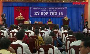 Kỳ họp thứ 16 HĐND tỉnh khóa IX