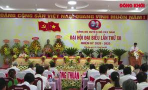 Đại hội đại biểu Đảng bộ huyện Mỏ Cày Nam nhiệm kỳ 2020 - 2025