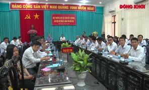 Bộ trưởng Bộ Thông tin và Truyền thông làm việc với Bến Tre
