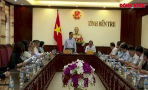 Thứ Trưởng Bộ Ngoại giao Lê Hoài Trung làm việc tại Bến Tre