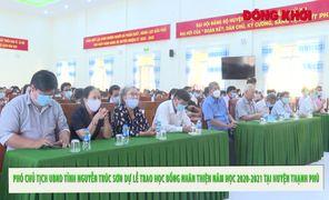 Phó chủ tịch UBND tỉnh trao học bổng Nhân Thiện cho học sinh, sinh viên huyện Thạnh Phú