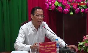 Bí thư Tỉnh ủy làm việc với Công an tỉnh Bến Tre