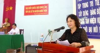 Đại biểu Quốc hội khóa XIII, đơn vị tỉnh Bến Tre tiếp xúc cử tri các huyện: Giồng Trôm, Ba Tri