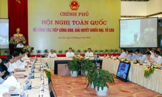 Thủ tướng chủ trì Hội nghị trực tuyến toàn quốc về giải quyết khiếu nại, tố cáo