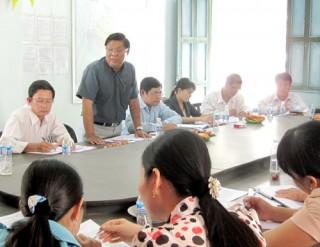 Kiểm tra công tác phòng, chống tham nhũng tại Ban Quản lý Dự án đầu tư xây dựng huyện Ba Tri