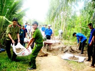 Thanh niên xung kích trong xây dựng nông thôn mới