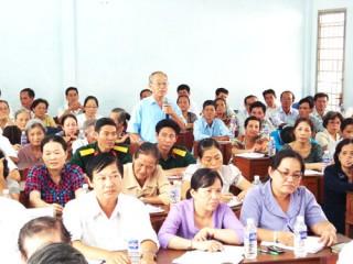 Đại biểu Quốc hội tiếp xúc cử tri các huyện và TP. Bến Tre