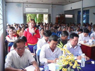 Đoàn đại biểu Quốc hội tỉnh tiếp xúc cử tri các huyện